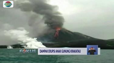 Akibat erupsi Anak Gunung Krakatau yang terjadi pada Selasa (20/11), tiga kecamatan di Lampung Tengah dilanda hujan debu vulkanik.