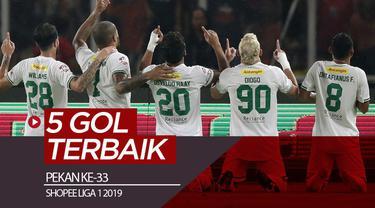 Berita video gol-gol terbaik yang tercipta pada pekan ke-33 Shopee Liga 1 2019.