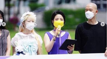Promosikan RUU Soal Tato, Politikus Korea Selatan Pakai Gaun Terbuka