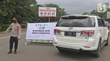 Suasana Gerbang Tol Bogor di Tengah Penerapan Ganjil Genap