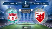 Liga Champions 2018 Liverpool Vs Crvena Zvezda (Bola.com/Adreanus Titus)