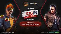 Saksikan Live Streaming Login Battle Series Season 4 Free Fire di Vidio, 16 dan 18 Juli 2021. (Sumber : dok. vidio.com)
