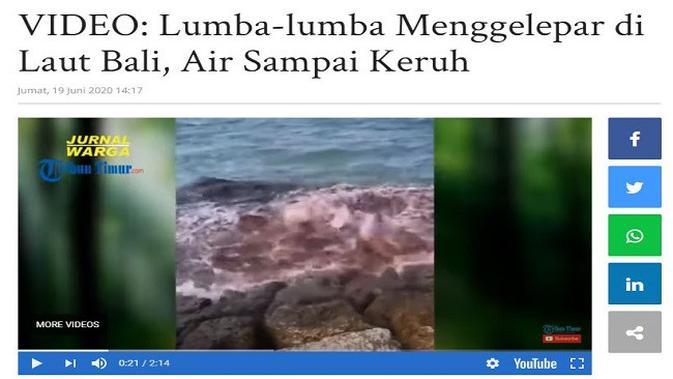 Gambar Tangkapan Layar Video dari Situs makassar.tribunnews.com