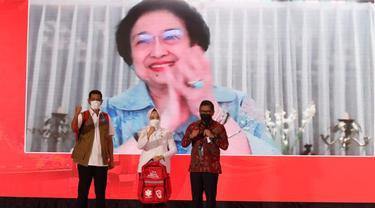 Megawati Soekarnoputri dalam acara BMKG.