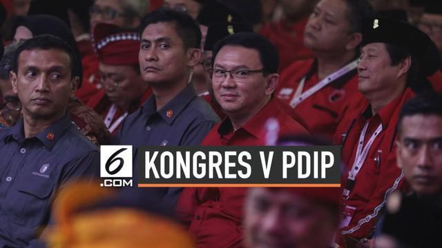 Mantan Gubernur DKI Jakarta Basuki Tjahaja Purnama (Ahok) menghadiri Kongres V PDIP di Bali. Agenda Rakernas tersebut membahas berbagai agenda dengan agenda utama pengukuhan Megawati Soekarnoputri sebagai ketua umum.