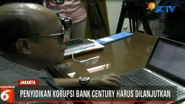 Dalam putusan praperadilan, hakim meminta mantan Gubernur Bank Indonesia, yakni Boediono dan kawan-kawan segera ditetapkan sebagai tersangka.