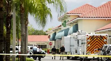Insiden penembakan di Florida (10/6) menewaskan dua orang korban dan pelaku juga meninggal dunia.