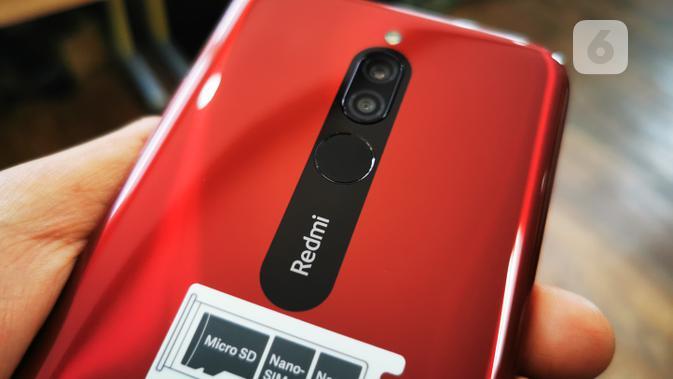 Redmi 8 - Kamera Belakang dan Sensor Sidik Jari (1). Liputan6.com/Mochamad Wahyu Hidayat