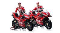 Mission Winnow Ducati Team resmi meluncurkan Desmosedici GP19 yang akan dipakai Danilo Petrucci dan Andrea Dovizioso di MotoGP 2019, Jumat (18/1/2019). (dok. Twitter Ducati)