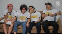 Peman Warkop DKI Reborn Aliando Syarief, Adipati Dolken, Randy Danistha dan Indro (Liputan6.com/Faizal Fanani)