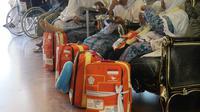 Jemaah haji Embarkasi Solo 9 di hotel transit. Darmawan/MCH