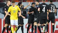Timnas Jerman meraih kemenangan 1-0 atas Rumania pada laga kedua Grup J kualifikasi Piala Dunia 2022 zona Eropa di Arena Nationala, Senin (29/3/2021) dini hari WIB. (AFP/Daniel Mihailescu)