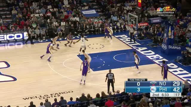 Berita video game recap NBA 2017-2018 antara Philadelphia 76ers melawan New Orleans Pelicans dengan skor 100-82.