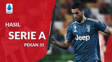 Berita motion grafis hasil Serie A pekan 35, Juventus Gagal pesta juara, Atalanta kembali geser Inter Milan.