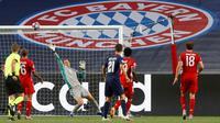 Paris Saint-Germain dan Bayern Munchen hanya mampu bermain 0-0 pada babak pertama partai final Liga Champions di Estadio da Luz, Senin (24/8/2020) dini hari WIB. (MATTHEW CHILDS / POOL / AFP)