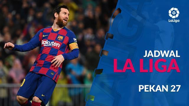 Berita video jadwal La Liga 2019-2020 pekan ke-27. Barcelona hadapi Real Sociedad, Minggu (8/3/2020) di Camp Nou, Barcelona.