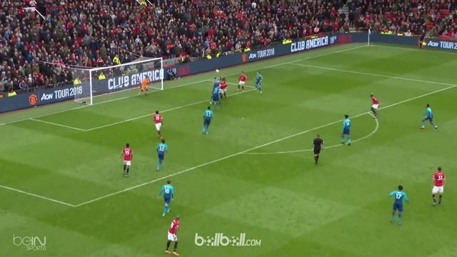 Marouane Fellaini mencetak gol kemenangan Manchester United pada menit akhir laga atas Arsenal. This video is presented by Ballball.