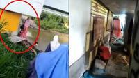 Pasangan suami istri tinggal di kolong jembatan (Sumber: Facebook/TheWarningRockBand)