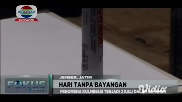Awal pekan ini, sejumlah wilayah di Jawa Timur (Jatim) akan alami hari tanpa bayangan atau kulminasi. Sekitar 12 wilayah di Jatim akan alami hari tanpa bayangan pada Senin (14/10/2019).
