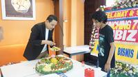 Masbukhin Pradhana saat peluncuran Kubiz TV. (Foto: Istimewa)