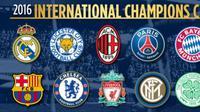 Klub-klub peserta turnamen International Champions Cup 2016 Wilayah Amerika Utara. (ICC 2016).