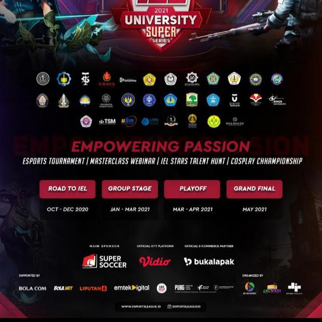 Kesempatan Emas Untuk Para Gamers, IEL University Super Series Season 3 Resmi Digelar