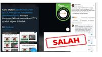 Cek Fakta Pemprov DKI Jakarta sengaja matikan CCTV saat unjuk rasa UU Cipta Kerja 13 Oktober 2020.