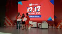 Ulang tahun keempat Shopee meluncurkan Shopee 12.12 Birthday Sale dengan penawaran terbesar (Liputan6.com/Komarudin)