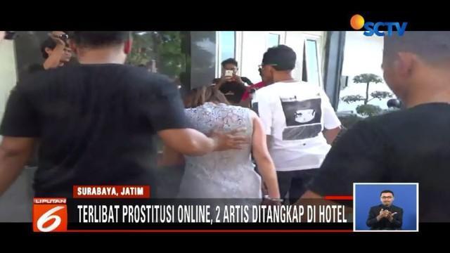 Terkait prostitusi online yang melibatkan artis, polisi menyatakan artis VA dipesan seorang pengusaha asal Surabaya.