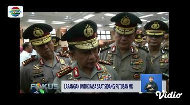 Kapolri Jenderal Tito Karnavian melarang ada unjuk rasa saat sidang putusan sengketa pilpres pada 27 Juni.