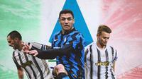 Serie A - Leonardo Bonucci, Alexis Sanchez, Matthijs De Ligt (Bola.com/Adreanus Titus)