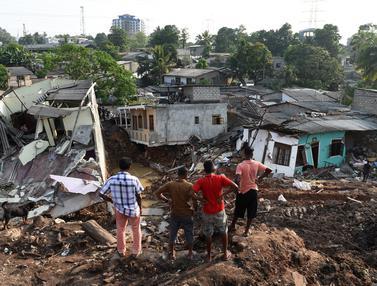 20170416-Longsor di Tempat Pembuangan Sampah Sri Lanka-AFP