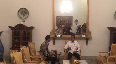 Suasana Pertemuan 4 Mata Jokowi-AHY di Istana