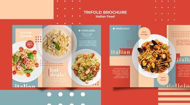 Ilustrasi brosur makanan