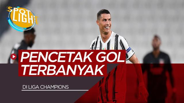 Berita video spotlight kali ini akan membahas tentang pencetak gol terbanyak di Liga Champions termasuk Cristiano Ronaldo