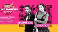 Jirayut DAA dan Rara Lida dua pengisi acara KapanLagi Buka Bareng. (Istimewa)