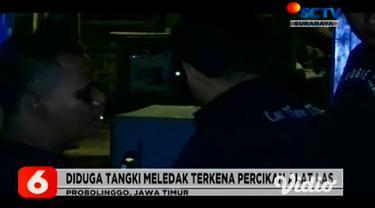Lima orang karyawan pabrik asbes di kota Probolinggo, Jawa Timur, menderita luka bakar setelah tangki bahan bakar genset meledak saat karyawan melakukan pengelasan.