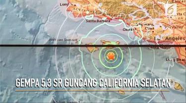 Gempa bumi berkekuatan 5,3 skala ritcher mengguncang California