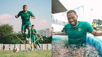 6 Potret Alie Sesay Latihan Bersama Persebaya, Bek Asing Tangguh (sumber: Instagram/alie_sesay1)