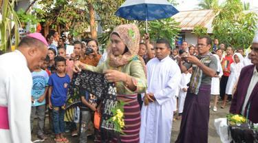 Adem, Grup Qasidah Tampil di Gereja Lembata NTT