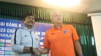 Pelatih Timnas Indonesia U-23, Indra Sjafri, bertekad mengantarkan timnya mengalahkan Thailand pada laga pembuka Kualifikasi Piala AFC U-23 2020. (dok. PSSI)