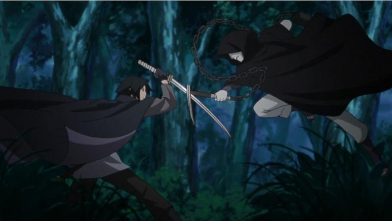 Sasuke dan Shin Uchiha di anime Boruto. (Pierrot)