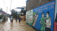 Rumah warga di Medan terendam banjir, Jumat, 4 Desember 2020