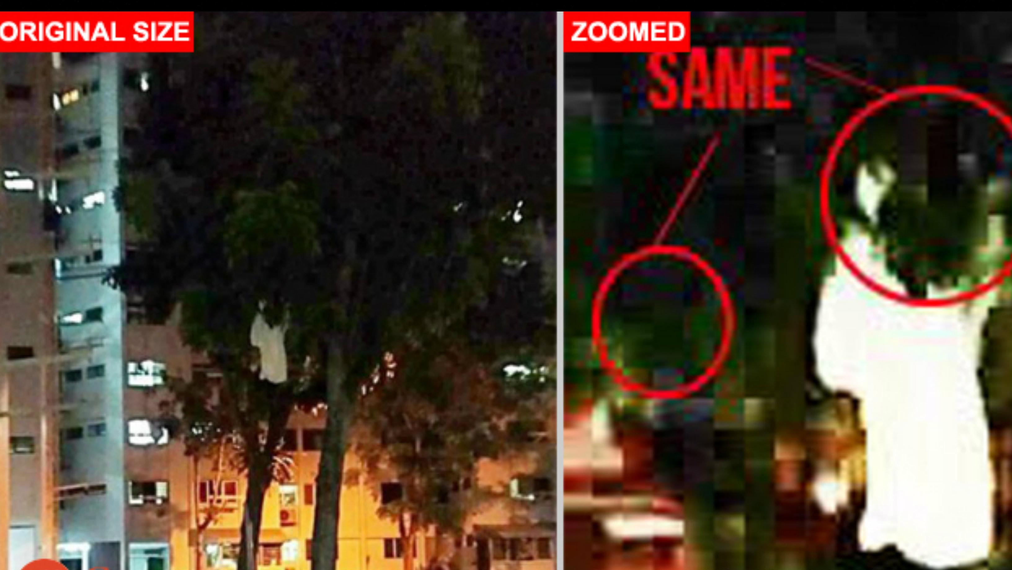 Penampakan sosok misterius diduga hantu kuntilanak di Singapura. (Stomp)