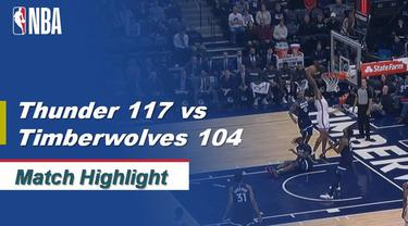 Berita Video Highlights NBA 2019-2020, Oklahoma City Thunder Vs Minnesota Timberwolves 117-104