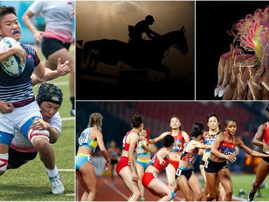 Berikut ini kumpulan momen menarik perhelatan akbar Asian Games sepanjang hari Kamis 30 Agustus 2018. (Foto-foto Kolase Bola.com dan AP)
