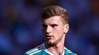 3. Timo Werner - Real Madrid sebetulnya sudah menjadikan Werner sebagai rekrutan utama sejak musim lalu. Namun El Real masih memberikan kesempatan kepada Karim Benzema untuk membuktikan kembali penampilannya di lapangan. (AFP/Benjamin Cremel)