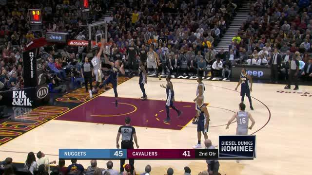 Berita video game recap NBA 2017-2018 antara Denver Nuggets melawan Cleveland Cavaliers dengan skor 126-117.