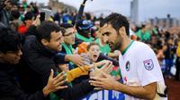 Raul Gonzalez akan melakoni partai terakhirnya sebagai pesepak bola profesional dengan membela New York Cosmos menghadapi Ottawa Fury, Minggu (15/11/2015) waktu setempat. (Reuters/Eduardo Munoz)
