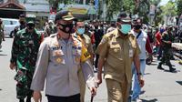 Operasi yustisi protokol kesehatan di Gresik, Jawa Timur. (Foto: Liputan6.com/Dian Kurniawan)